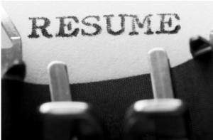 Resumes Typewriter Image